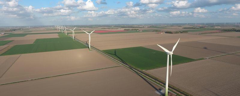 Bij de Gemeente Dronten is een nieuwe vergunning aangevraagd voor de opschaling van 7 nieuwe windturbines langs de Overijsselse tocht.