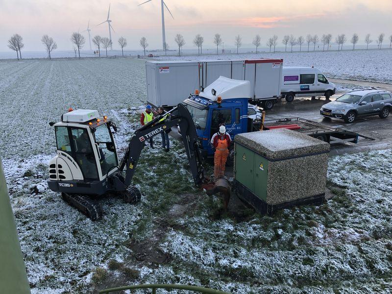 31 januari 2019; overdracht oude windmolens
