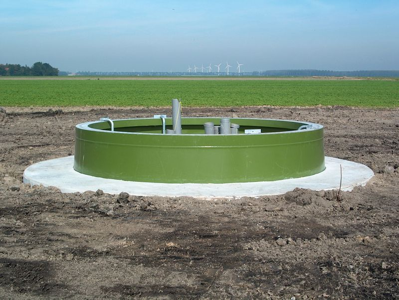De aanleg van de fundering van het windpark