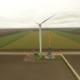 1 maart 2019; kraan opgebouwd bij windmolen 5