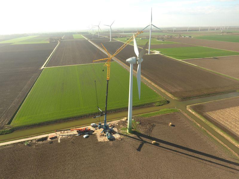 19 en 20 maart 2019; Demonteren windmolen 7
