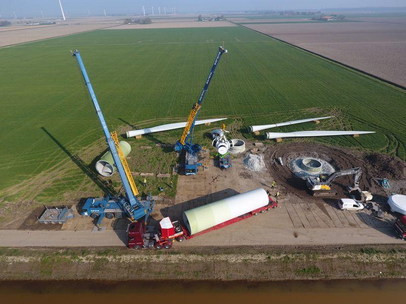 29 maart 2019; windmolen 6 op transport