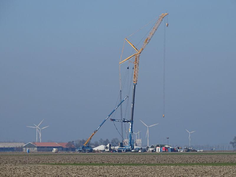 24 februari 2019; 3e windmolen ontmanteld
