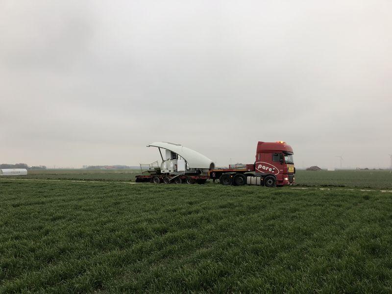 21 maart 2019; windmolen 7 op transport