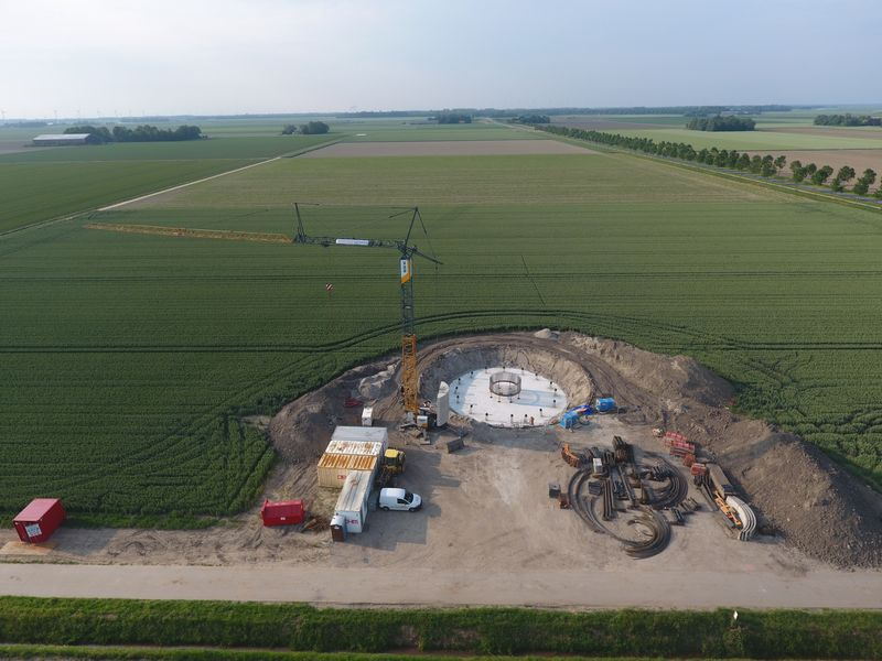 4 juni 2019; opbouw fundaties
