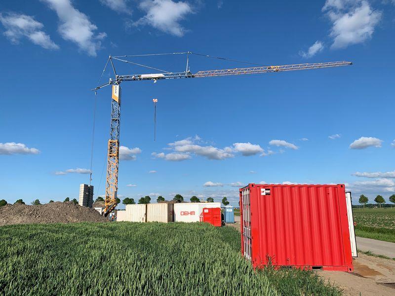 28 mei 2019; werkvloer windmolen 1 gestort