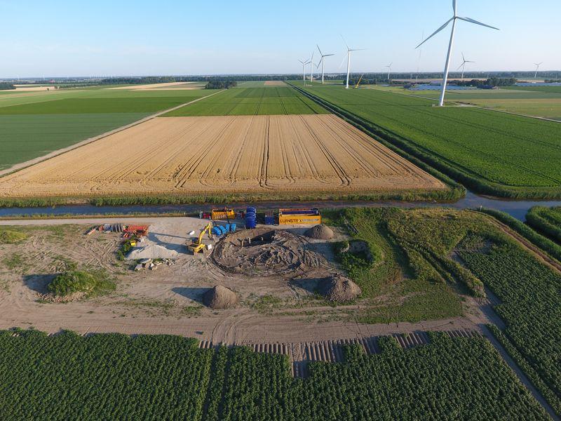 23 juli 2019; ontgraven windmolen 7