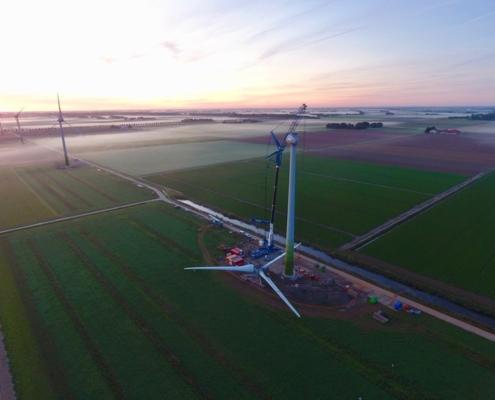 20 september 2019; windmolen 4 klaar