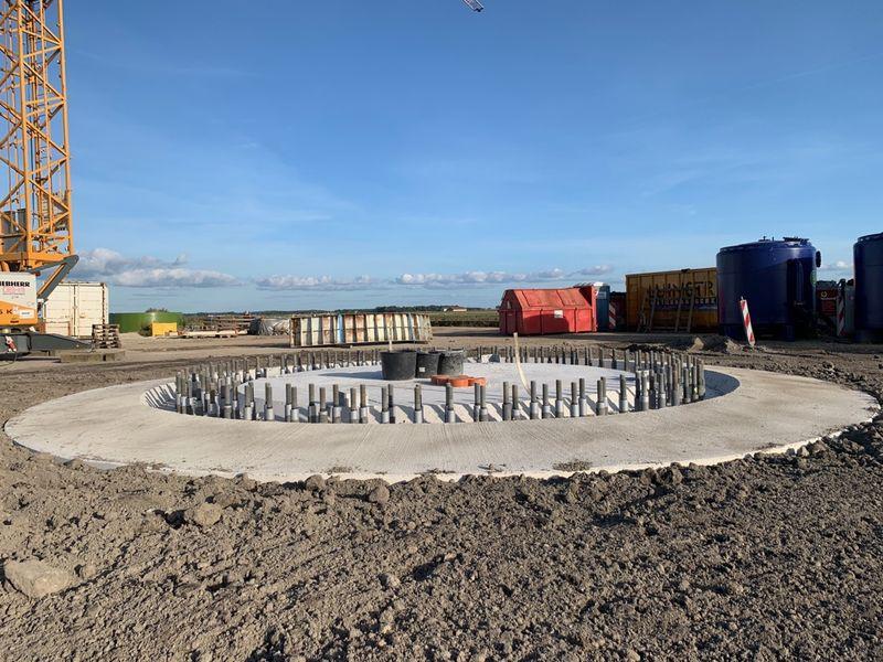 20 september 2019; fundering windmolen 7