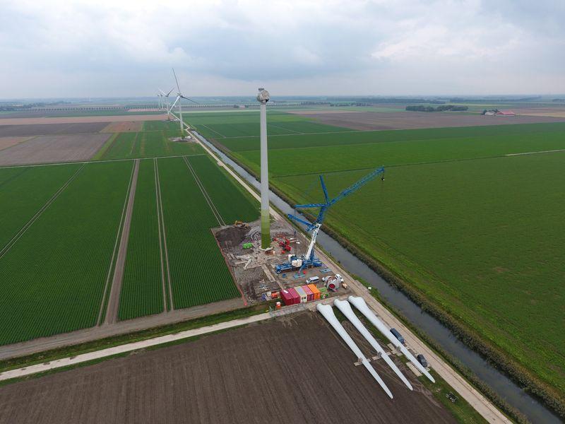 18 oktober 2019; windmolen 5 klaar