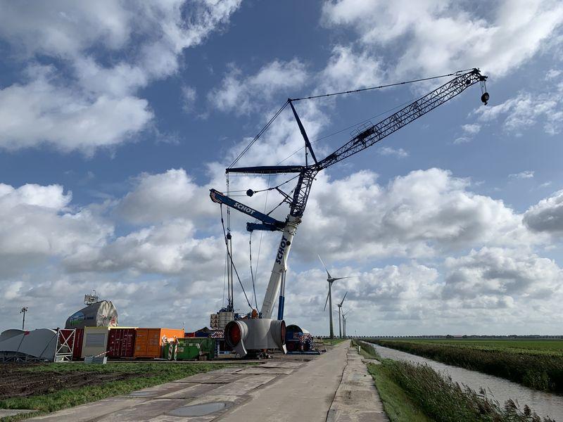 9 oktober 2019; start bouw windmolen 5