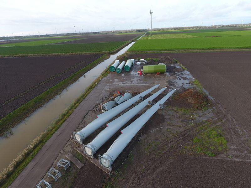 5 november 2019; onderdelen windmolen 7